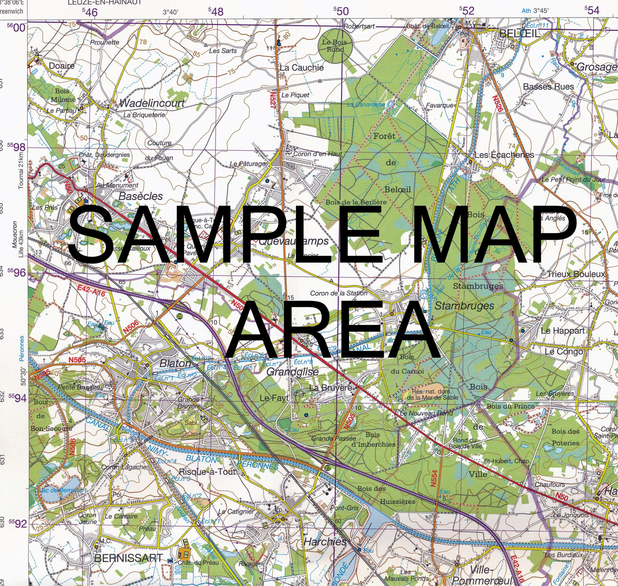 4 5 NGI Belgian 1 50 000 Topo Map Knokke Heist – Topographic Map of Belgium